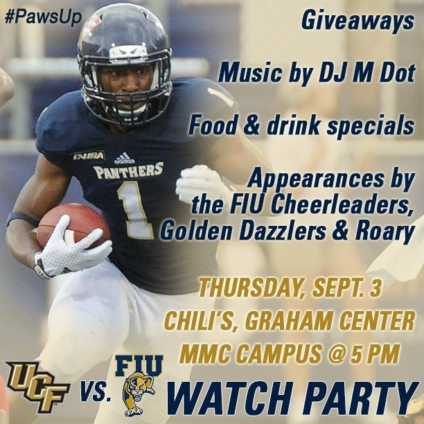 FIU Football vs. UCF Official Watch Party - FIU Athletics on university of florida campus map, ucf library, msu campus map, uncc campus map, virginia tech campus map, ucf facilities, ucf main campus, unh campus map, bakersfield state university campus map, lands' end dodgeville campus map, san diego sdsu campus map, ucf student parking pass, ucf bookstore, ucf campus police, ucf parking lot e, ucf campus tour, ucf campus life, fau campus map, univ miami aerial map, michigan state university campus map,